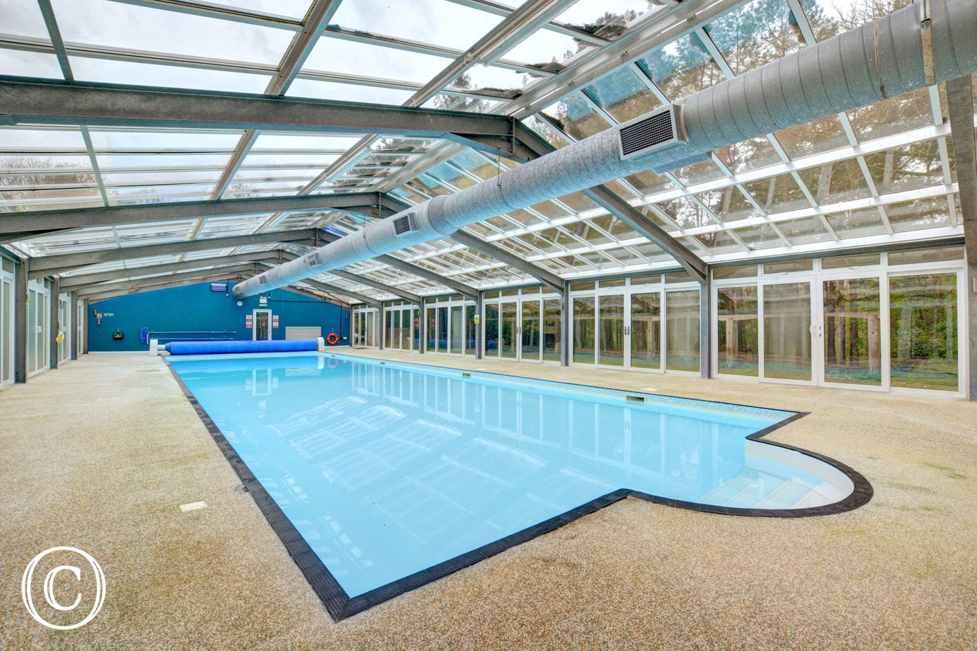 Pack your goggles and enjoy use of the heated indoor swimming pool
