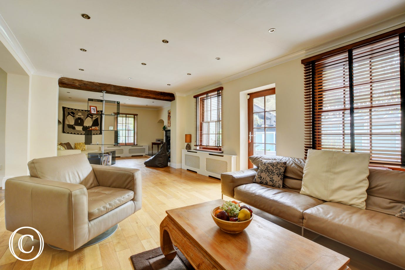 Spacious Sitting Room with comfortable seating