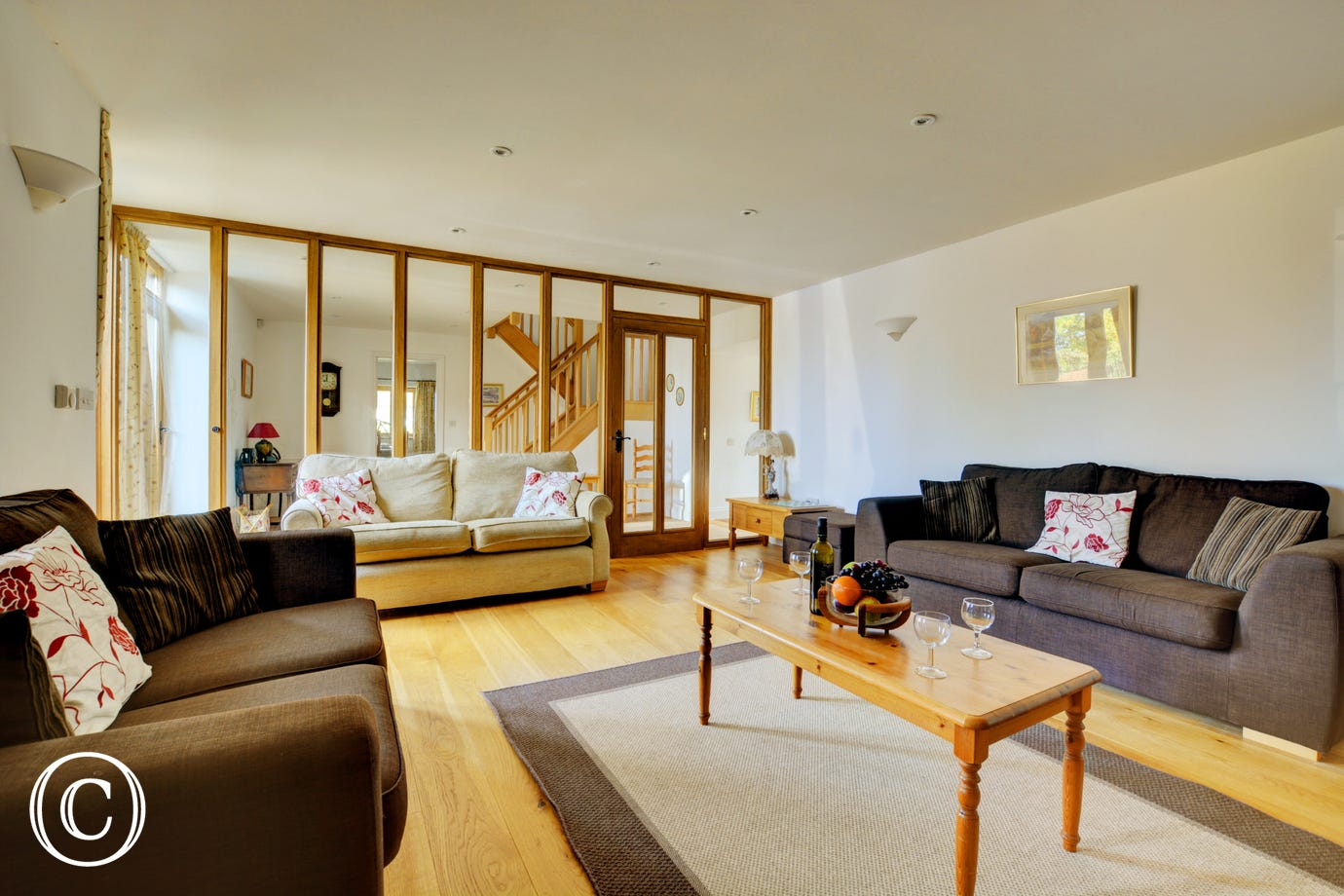 Sitting Room, spacious with comfortable seating