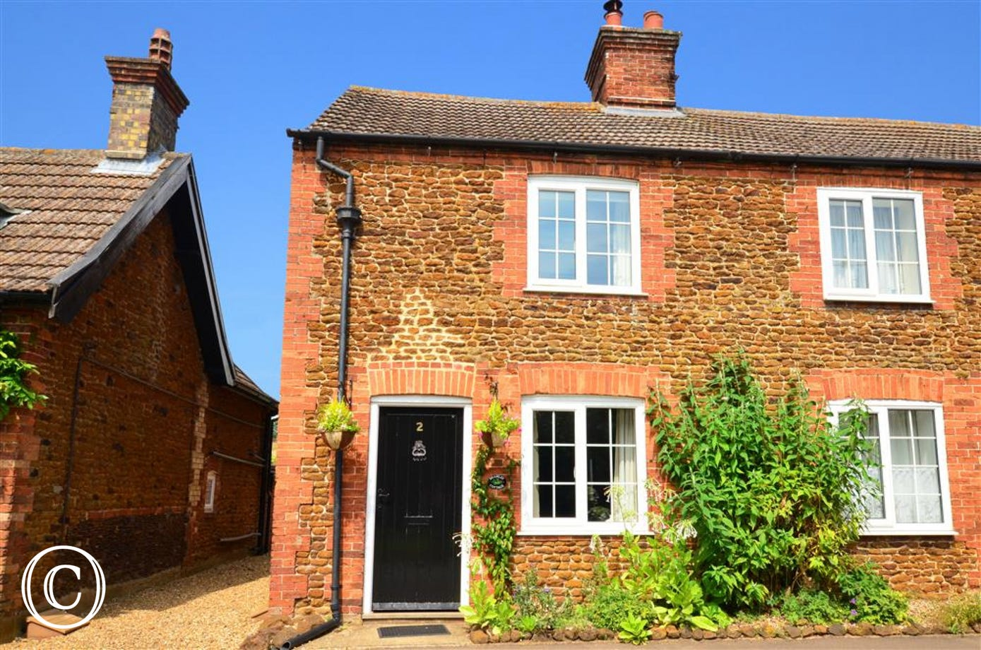 A traditional Norfolk cottage with a sunny aspect.