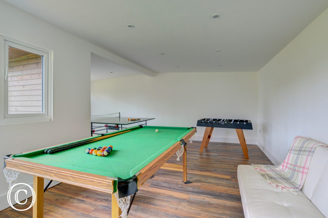 Games Room - Fifty yards from property with pool table, table football and table tennis