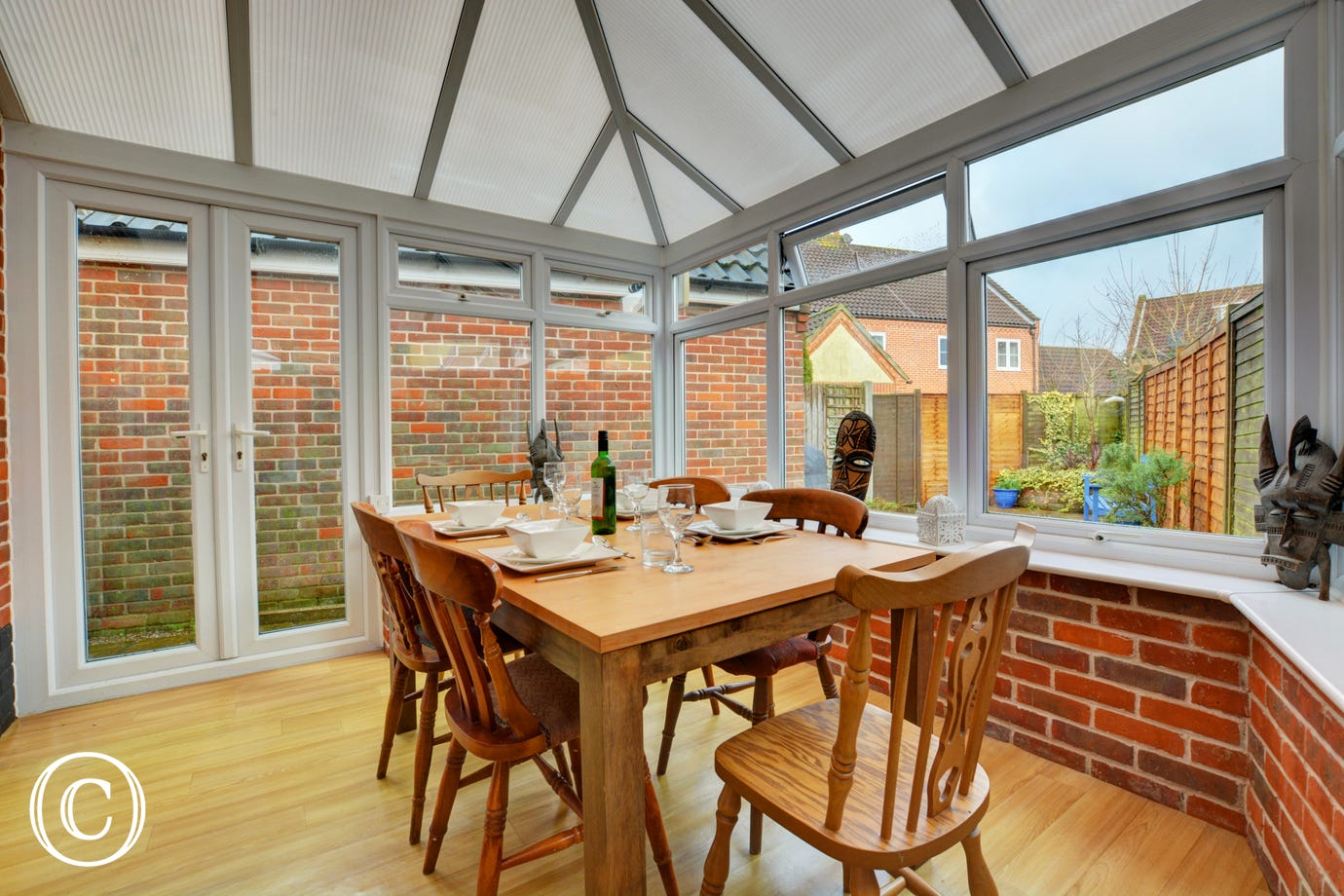 Dining/Conservatory with dining table and chairs
