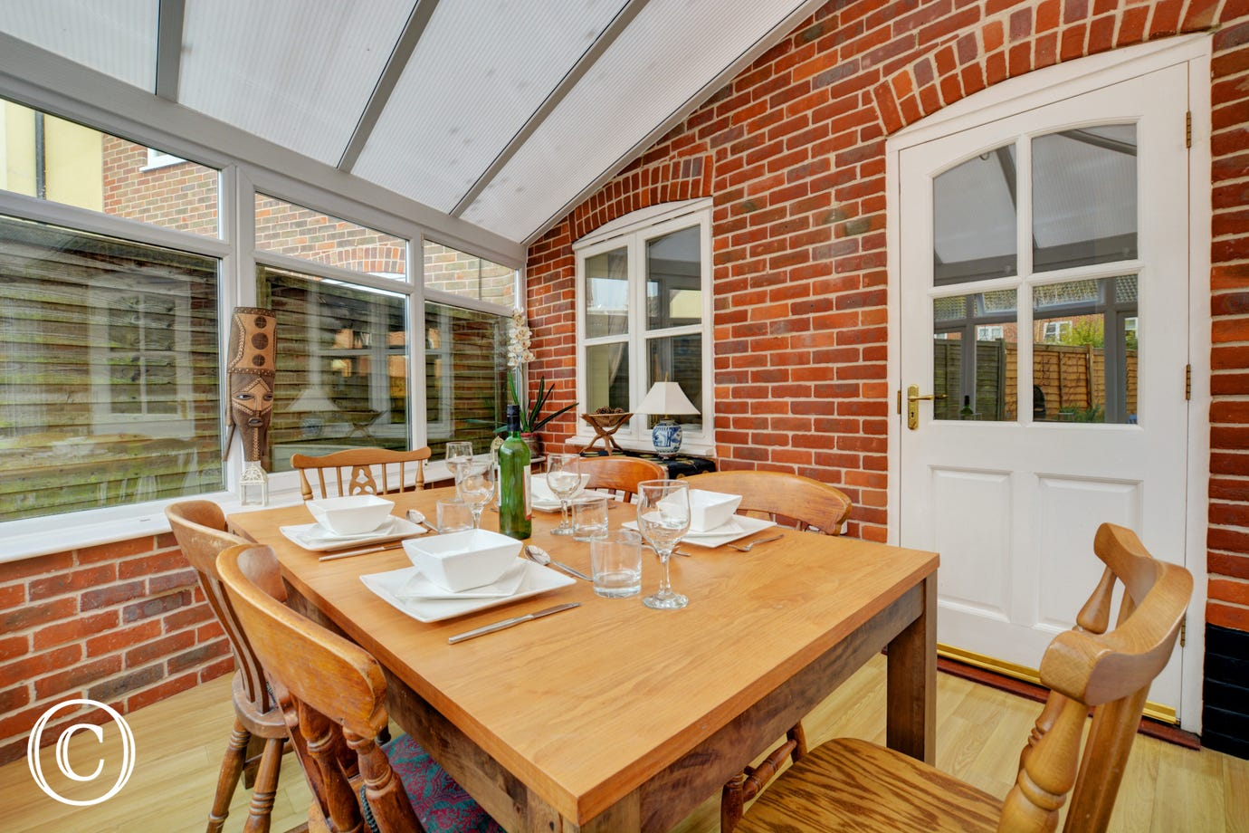 Dining/Conservatory with table and chairs