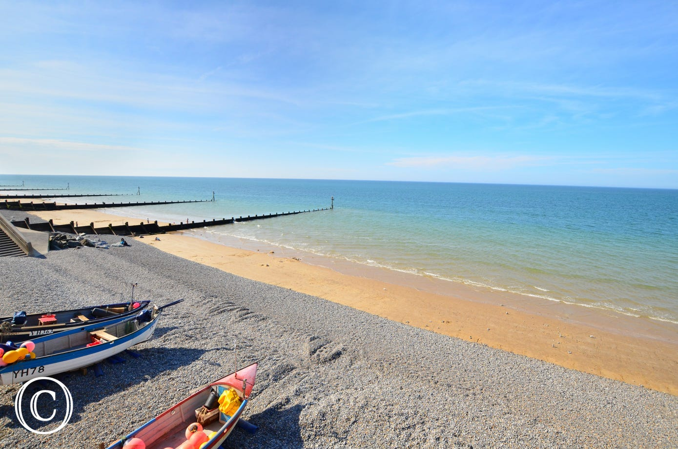 The property is 7 miles from the sandy beach at Sheringham