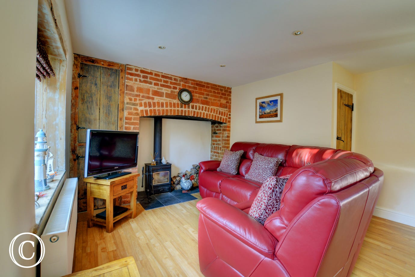Sitting Area - Cosy with wood burner