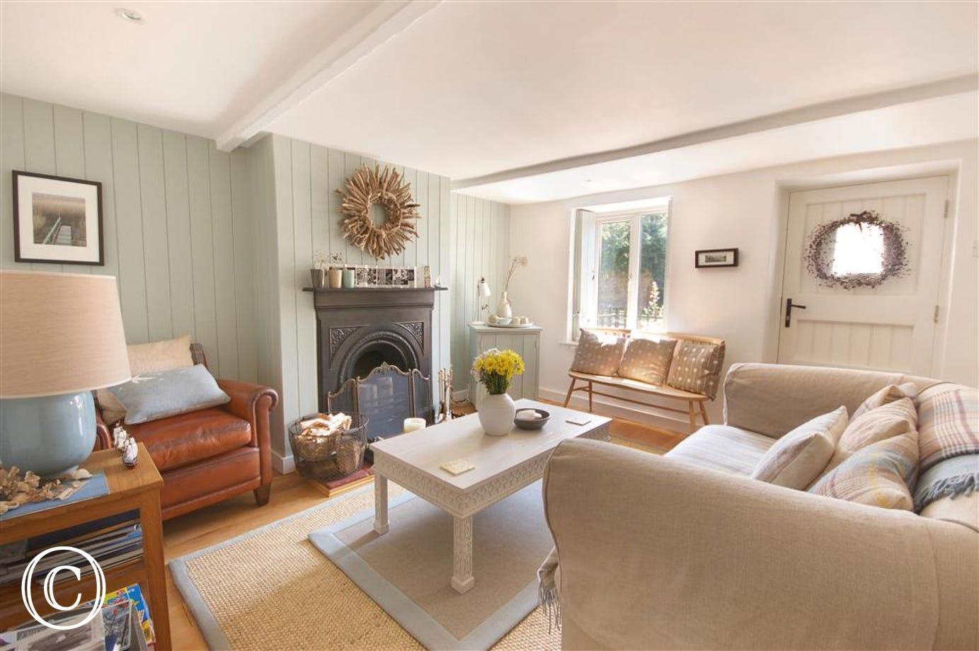 Beautifully decorated with a Shaker style, this makes a lovely family room