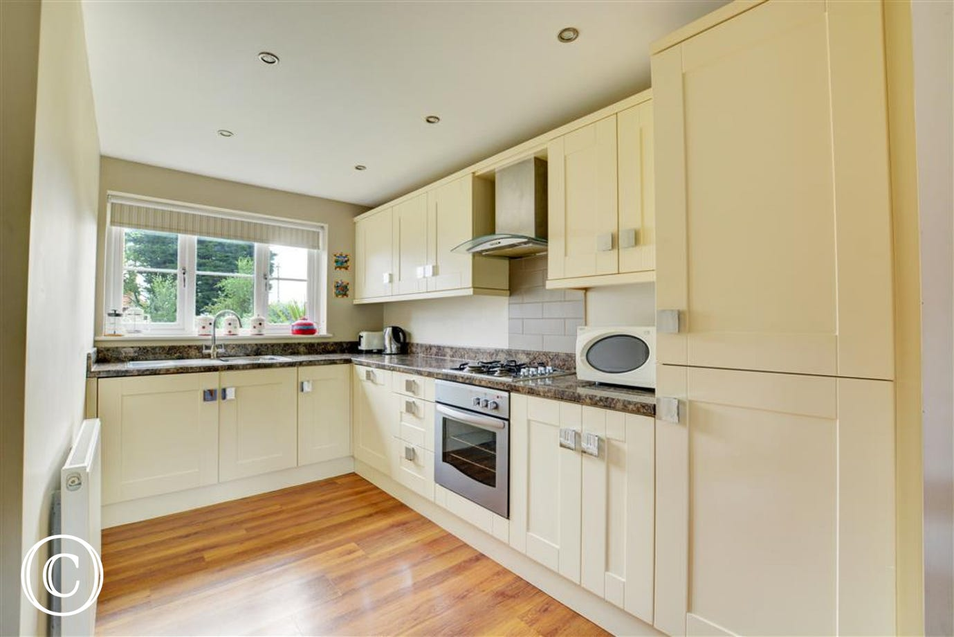 Modern, well equipped kitchen with electric oven and gas hob