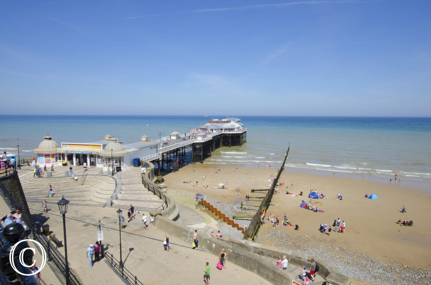 Cromer Pier and the sandy beach