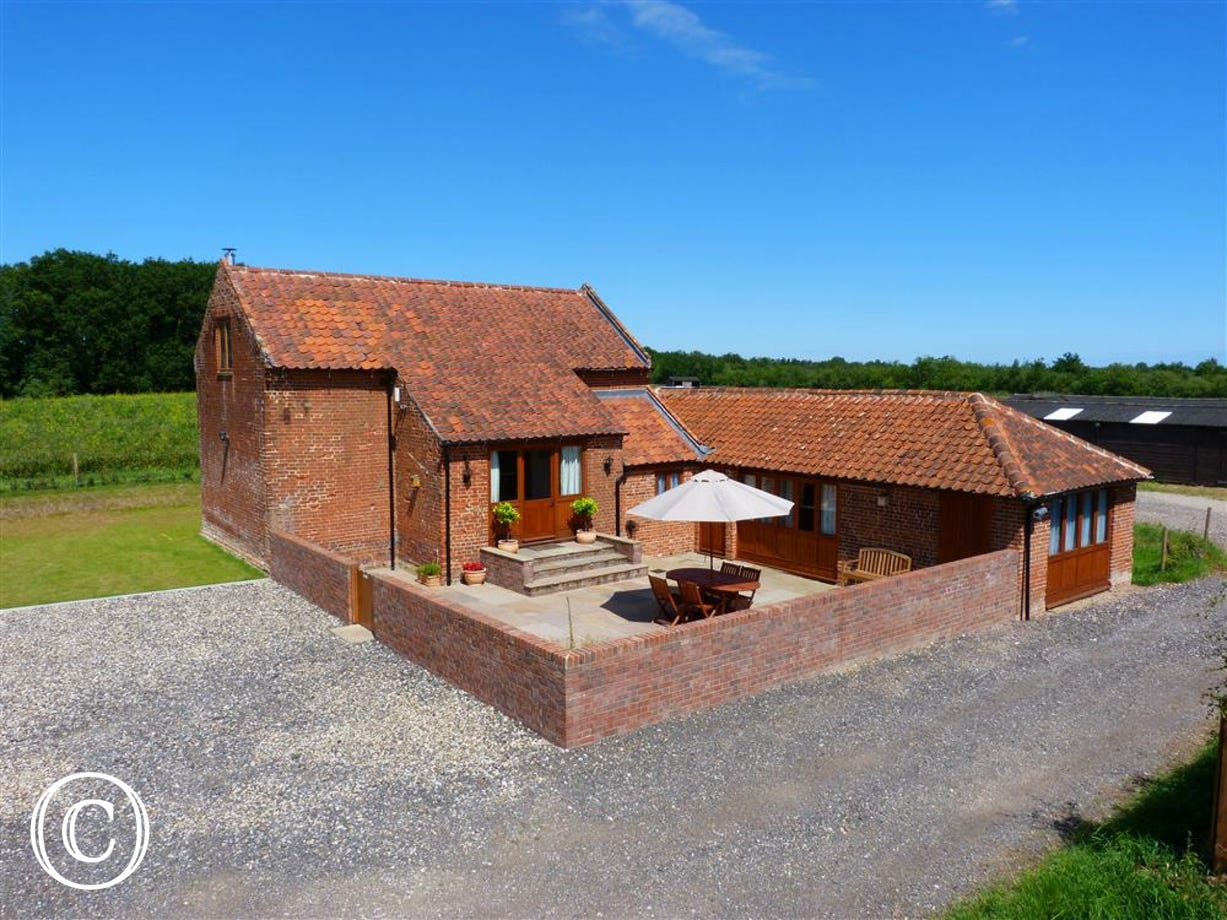 Exterior view of this very attractive barn conversion