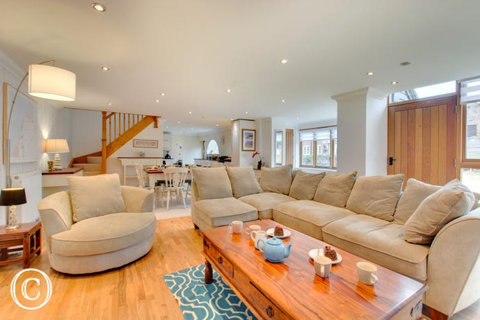 Such a fantastic space to relax as a group, the open plan living area is ideal