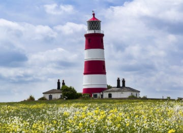 The Happisburgh Lighthouse in Norfolk
