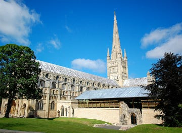 The Norwich Cathedral in Norfolk
