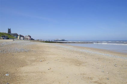 The sandy beach at Cromer