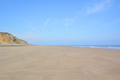 The sandy beach at East Runton