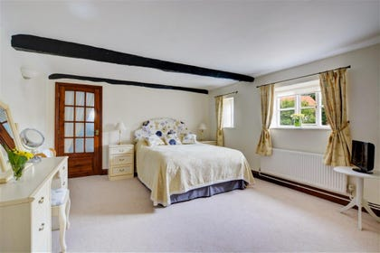 Bedroom two is a very spacious room with king sized bed