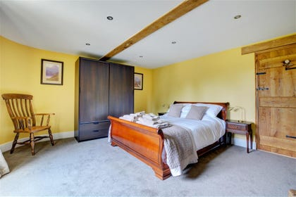 Main bedroom  with king sized bed