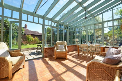 Wonderful conservatory with views of the garden