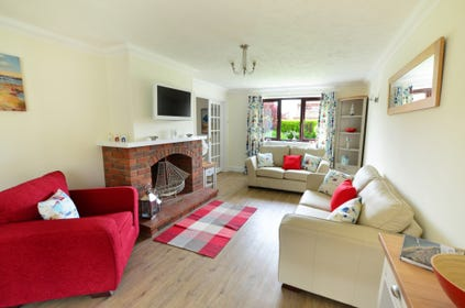 Attractively furnished with a feature fireplace