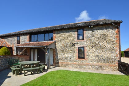 Exterior image of this handsome barn conversion