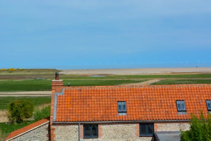 Superb views of the salt marshes from the twin bedroom window