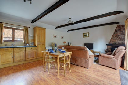 Open plan living space with a light and airy feel and plenty of room for all the family