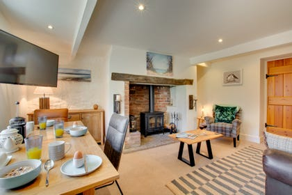 Sitting Room with wood burner