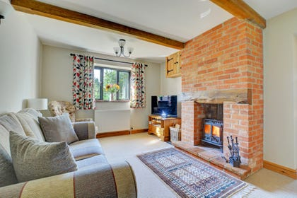Sitting Room, with woodburner, TV and comfortable seating